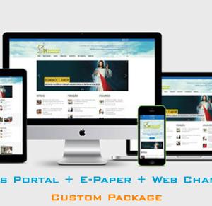 News Portal + E Paper + Video Portal Development Services