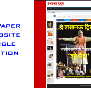 epaper website single edition development